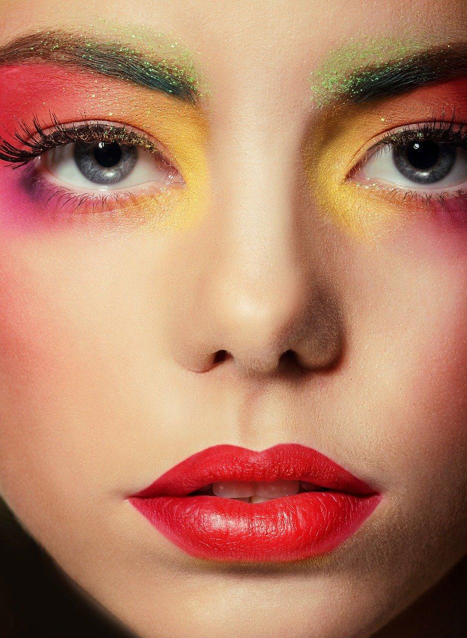 makeup, woman, person